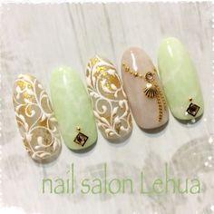 ネイル 画像 Lehua(レフア) 茅ケ崎 1701911 Simple Nail Art Designs, Easy Nail Art, Cool Nail Art, Nail Designs, Summer Holiday Nails, Christmas Nails, Spring Nail Trends, Japanese Nail Art, Latest Nail Art