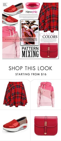 """""""newchic"""" by nanawidia ❤ liked on Polyvore featuring Chanel, polyvoreeditorial, newchic, patternmixing and Nanawidia"""