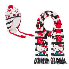 I love the Hello Kitty Hello Kitty Hat and Scarf Set from LittleBlackBag