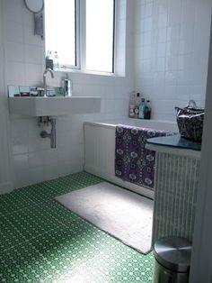 High Style, Low Cost DIY Bathroom Floor — Lazy Cozy