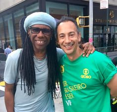 Carlos Keyes - Backstage today with legendary Nile Rodgers at Brazil Day in Manhattan