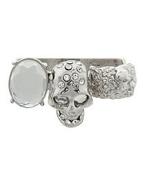KNUCKLE SKULL RING - SILVER http://www.purposh.com/#!rings/c4mp