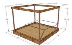 Large Covered Sandbox