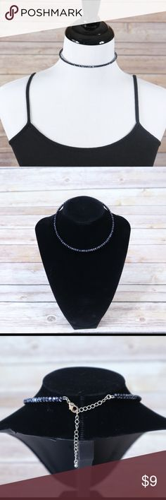 💙 Navy Blue/Sapphire Crystal Choker Necklace! 💎Navy blue/sapphire crystal choker necklace  💎Adjustable for comfort and length  💎Very sparkly and beautiful! ✨Wear it causally or wear it on a nice night out   I am willing to ⬇️  the price, just like ❤️ the product and or leave me a comment! Jewelry Necklaces