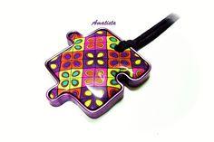 Colgante puzzle murrina quilt
