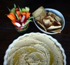 2 minute hummus- authentic Lebanese recipe from Around This Table-- YUM!!