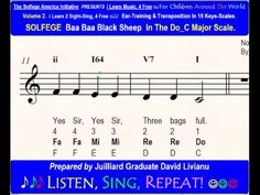 Baa, Baa Black Sheep incorporating Solfege, scales, sight reading and music theory