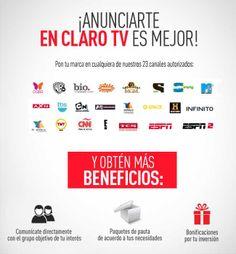 Promociona tu empresa creando una campañía publicitaria en Claro TV. Anunciate para conseguir más clientes.