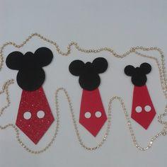 Gravatas Mickey (tam P/M) - 10 unidades