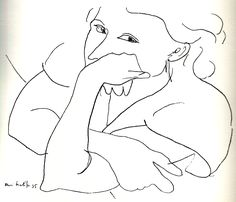 Matisse - a drawing  Picasso and Matisse were both aiming reaching child's purity in depiction and view of the world