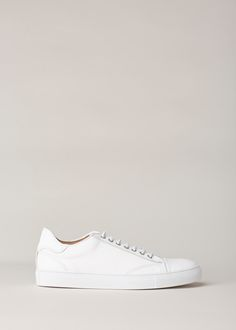 Wings + Horns White Leather Low Top