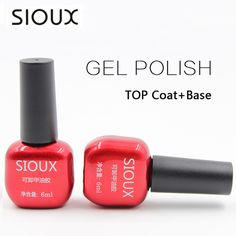 SIOUX 6ml Nail Gel Polish Soak Off UV Top Coat Base Coat Gel Polish Long-lasting Gel Lacquer Gelpolish SI01  Price: 3.24 USD