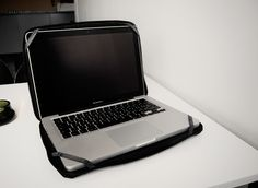 Laptop Case, made from bicycle inner tube. 2012.