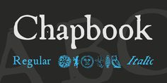 New free font 'Chapbook' by feorag · Free for commercial use · #freefont #font
