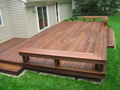 Ipe Wood Natural Color For Expensive Epay Wood Decking Cost Design - Epay Wood Deck, Ipe Wood Expensive. Small Backyard Decks, Decks And Porches, Patio Decks, Decking, Creative Deck Ideas, Deck Cost, Deck Building Plans, Ipe Wood, Deck Decorating