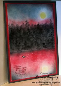 Porch Swing Creations: Rose Red Sunset **** another Melissa Banbury original.  Stamp sets: Just Believe, Christmas Lodge