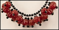 Fluted Carnelian and Petite Black Onyx Bead Drop by floweravenue, $45.00 Carnelian, Black Onyx, Flute, Drop, Necklaces, Sterling Silver, Chain, Beads, Jewelry