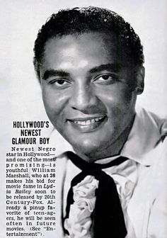 Actor William Marshall, Later Known as Count Blacula - Jet Magazine January 3, 1952 by vieilles_annonces, via Flickr