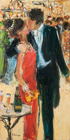 Mardi Gras Ball. Painting by Kathy Whitinger. What I wouldn't give for someone to paint a picture of us like this
