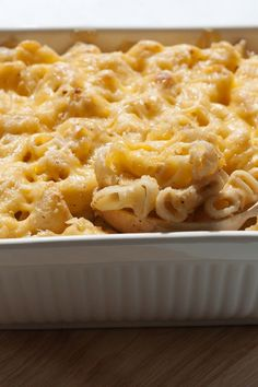 Recipe including course(s): Entrée; and ingredients: boneless, skinless chicken breast, cheddar cheese, cream of mushroom soup, macaroni, skim milk