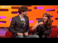 David Tennant and Catherine Tate, geeking out in Shakespeare Battle - The Graham Norton Show, 2011