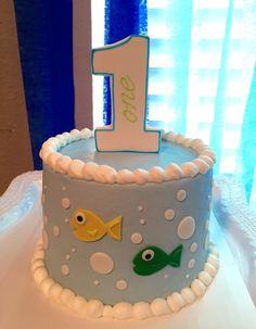 Gone fishing smash cake