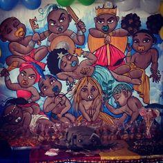 Erês e Ibejis - Pesquisa Google Black Girl Art, Black Art, Art Girl, Orisha, Gods And Goddesses, Magick, Spirituality, Comics, Wallpaper