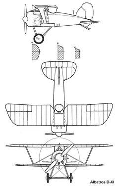 Albatros D.XI blueprint