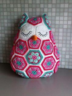 9 Beste Afbeeldingen Van Gehaakte Uil Kussens Crochet Animals