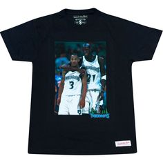 Minnesota Timberwolves Stephon Marbury Kevin Garnett NBA Photo T-Shirt d76bceec4