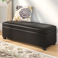 House of Hampton Koffler Velvet Tufted Round Cocktail Ottoman Clutter Free Home, Wood Storage Bench, Upholstered Storage Bench, Ottoman Storage, Cocktail Ottoman, Chaise Sofa, Tufted Ottoman, Fabric Sofa, Storage Spaces