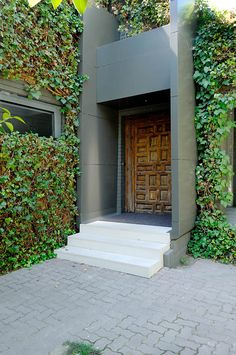 House b&n @ madrid, spain 2012 by a-cero door window gate Contemporary Architecture, Architecture Design, Wall Design, House Design, Wooden Gates, Entrance Design, Garden Living, Commercial Architecture, Rustic Interiors