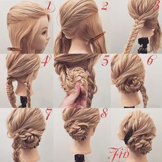 braided bun hair tutorial: the most beautiful tutorials and photos Discover a beautiful collection of the most beautiful braided buns, tutorials easy to do at home, enjoy Pretty Hairstyles, Braided Hairstyles, Wedding Hairstyles, Crazy Hairstyles, Updo Hairstyle, Braid Hair, Wedding Updo, Hairdos, Updos