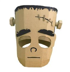 template will give you the framework to make a Frankenstein head, using thi. - work -This template will give you the framework to make a Frankenstein head, using thi. Costume Frankenstein, Halloween Ghosts, Costume Halloween, Halloween Crafts, Halloween Couples, Group Halloween, Homemade Halloween, Cardboard Costume, Craft Ideas