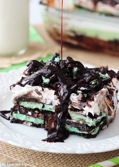 Mint Oreo Icebox Cake - Life Love and Sugar