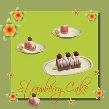 Mod The Sims - Strawberry Mousse Cake