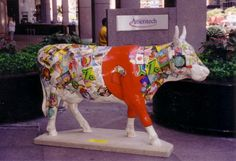 cows on parade chicago | red cow in the middle of michigen ave chicago s cows on parade art ...