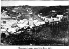 Maclaggan Street, from Bell Hill, 1861.