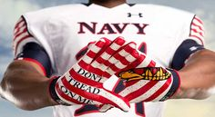 """The United States Naval Academy has unveiled their new uniforms for this Saturday's Army-Navy game. The uniforms feature a """"Don't Tread on Me"""" theme, which is a Navy Uniforms, Football Uniforms, Team Uniforms, Football Team, College Football, Football Season, Go Navy Beat Army, Army & Navy, Army Navy Football"""