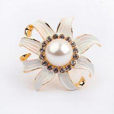 Mum Flower Statement Ring from LilyFair Jewelry
