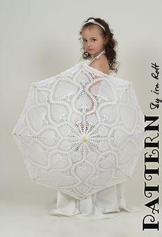Wow!!  Impressive!! Lace Crocheted Kid Parasol - Crochet Pattern by Ira Rott