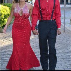 Red Jovani  Prom dress for sale Jovanni prom dress, diamonds Jovani Dresses