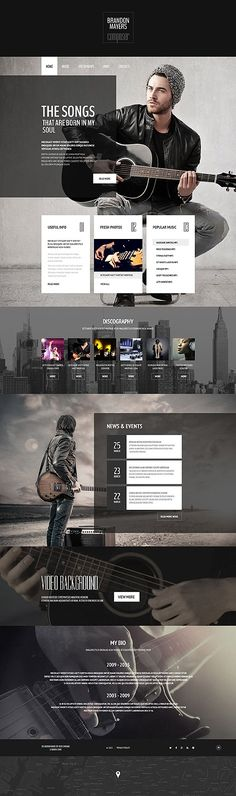 Music Composer Portfolio #website #template. #themes #business #responsive #websitethemes