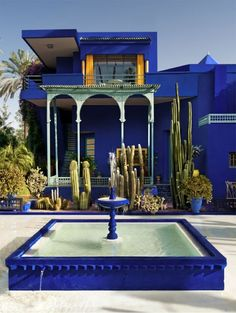 Home of Yves Saint Laurent by ELLE #blue #kobalt #home