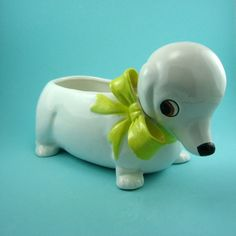 Adorable Vintage Doxie Planter by snew on Etsy