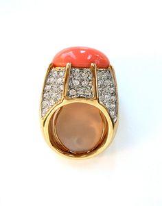 Vtg 70's Oversized Coral KJL Cocktail Ring  http://www.etsy.com/shop/LuluTresors