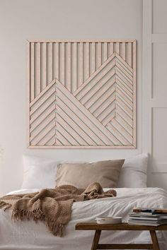 This Mountain Wood Wall Art will make a beautiful centerpiece of your decor! Modern Wooden Wall Art Art is a perfect way to complement the decor at your home! Besides, our Geometric Wood Wall Hanging will be a great present for your loved ones! Wooden Wall Art, Diy Wall Art, Hanging Wall Art, Large Wall Art, Wood Wall, Wall Decor, 3d Wall Panels, Idee Diy, Home Projects