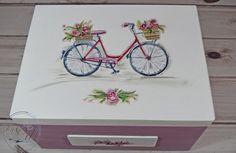 Kufer wspomnień z motywem rowerowym