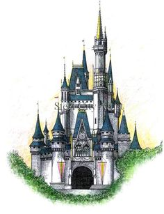 cinderella's castle old style - Google Search