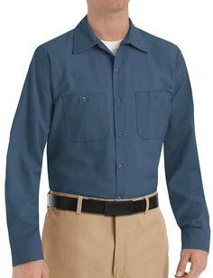 d94a158a48c Men s Red Kap Classic-Fit Industrial Button-Down Work Shirt